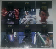 STAR WARS JEDI LEGACY FILM MOVIE CELL 6-CARD SINGLE RELIC LOT FR-2-3-4-7-10 & 25
