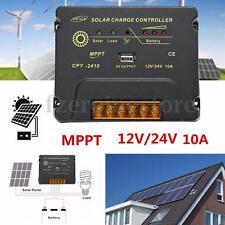 10A 12V/24V Intelligent MPPT Solar Panel Regulator Battery Charge Controller