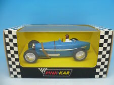 Pink Kar Bugatti Type 59 in Blue, Rare Blank Base, mint unused boxed