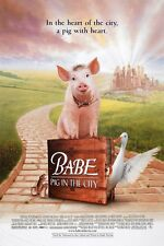 BABE PIG IN THE CITY MOVIE POSTER 2 Sided ORIGINAL ROLLED 27x40 JAMES CROMWELL