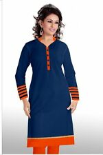 Casual cotton kurti For summer season Blue