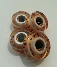 4 Guitar speed volume/tone knobs. Gold/White Pearl/Black.JAT CUSTOM GUITAR PARTS