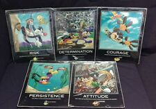 "1998 RARE Looney Tunes Warner Bros.16""X20"" Sports Motivational Posters Set of 5"