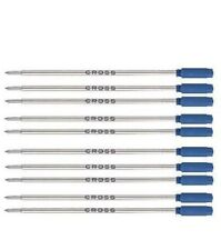10 CROSS Ballpoint pen Refills AUTHENTIC - BLUE MEDIUM POINT - #8511