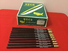 Lot Of 10 USCO ADVERTISING PENCIL Whitey's Detroit Michigan Black Grade No. 4
