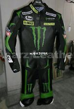 MONSTER ENERGY MOTORBIKE LEATHER SUIT COWHIDE MOTORCYCLE SUIT JACKET PANT 1-2-PC