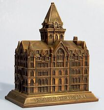 GENUINE A.C. REHBERGER SYRACUSE SAVINGS METAL SOUVENIR BUILDING BANK 1920's