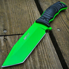 "10"" FULL TANG GREEN Tactical Survival FIXED BLADE KNIFE Machete Hunting Bowie"