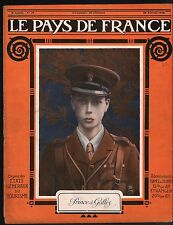 WWI Portrait Prince of Wales/Map Carte France Belgique Germany 1915 ILLUSTRATION