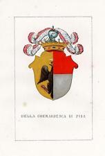 Araldica stemma araldico della famiglia Della Gherardesca di Pisa