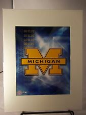 """University of Michigan - Ready to Frame  Logo  Go Blue! 11"""" x 14"""" Matted"""