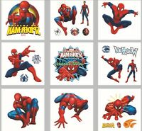 1-100 Spiderman Temporary Tattoos Boys Party Favors Bag Fillers Sticker