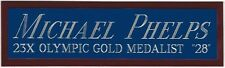 MICHAEL PHELPS USA NAMEPLATE for AUTOGRAPHED Signed PHOTO-GOLD MEDAL-TRUNKS-BOOK