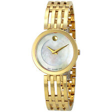 Movado Esperanza Mother Of Pearl Dial Gold Tone Stainless Steel Ladies Watch