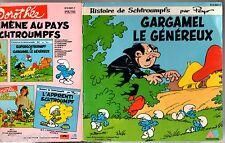 45 tours LIVRE DISQUE ¤ SCHTROUMPFS/GARGAMEL LE GENEREUX ¤ 1983 VINYLE