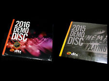 New! Two DTS X,7.1 Demo #19 & #20 Genuine! Blu Ray Discs CES 2015 & 2016 Sealed