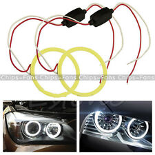 New COB 80mm LED Car Angel Eye Halo Ring Bulbs Decoration Light Rings White CF