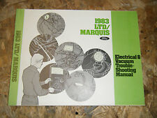 1983 FORD LTD MERCURY MARQUIS FACTORY ELECTRICAL TROUBLESHOOTING MANUAL SERVICE