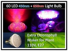 Combo Blue & Red Max Plant Grow 60LED Light Bulb 110V E27 USA Engineer Certified