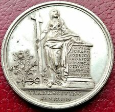 LG RARE 1814 UK SILVER MEDAL! GIVE GLORY UNTO THE LORD FOR VICTORY OVER NAPOLEON