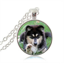 Lovely Alaskan Malamute Dog Necklace. Stunning. In Organza Gift Bag