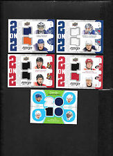 2008-09 MVP TWO ON TWO QUAD STAAL BRIND'AMOUR LECAVALIER ST LOUIS JERSEY J2-LSBS
