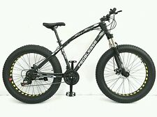 PedalEase Big Cat Fat Bike MTB Snow Beach front suspension, disc brake 21 speed