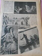 Les Peaux Rouges en Europe Lazzy Buffalo Pêche à l'arc Danube Print 1936