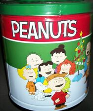 Peanuts It's A Charlie Brown Christmas popcorn tin Snoopy Linus Lucy Pigpen gift