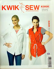 KWIK SEW SEWING PATTERN JACKET & VEST MISSES' # K3930 XS-S-M-L-XL