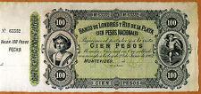 Uruguay, 100 pesos, 1862, P-S245r, Banco De Londres Y Rio De La Plata, aUNC