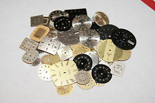 100 PCS. ASSORTMENT WATCH DIALS LARGE LOT NEW WATCH PARTS