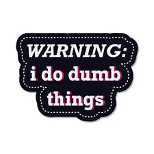 "Warning I Do Dumb Things car bumper sticker decal 6"" x 4"""