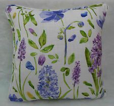 Sanderson Fabric Cushion Cover  'Spring Flowers' Hyacinth -  Linen Blend