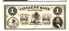 1860'S $1 Citizen Bank Of Louisiana-Superb Gem Uncirculated!