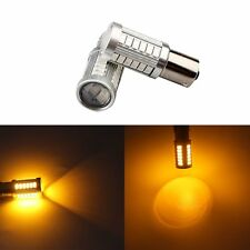 2 x Yellow BA15S 1156 33 SMD 5730 Amber DRL Reverse Lighting bulbs 33SMD Car LED