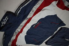 Adidas Trainings Anzug Jogging Track Jump Suit Vintage Trash Nylon Silber D 7  L
