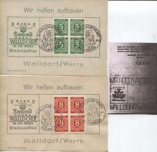 Lokal (n.a.) Walldorf-Gedenkblätter in Top-Erhaltung mit Bescheinigung (B04064)