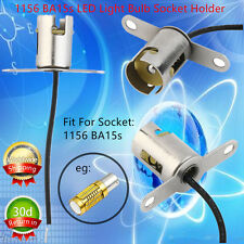 1pc 1156 BA15s LED Light Bulb Socket Holder With Wire Connector for Car Truck QW