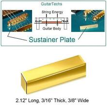 GuitarTechs Tune-O-Matic Bridge BRASS SUSTAINER PLATE for Electric Guitar
