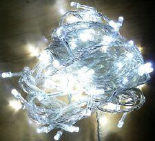 100er LED Lichterkette 8 Blink Funktion Weihnachtsbaum Tannenbaum Transp Weiß