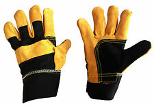 Pairs Premium Gold Leather Rigger / DIY / Gardening Gloves - See Offers