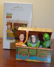 MINT Hallmark Ornament TIME TO PLAY! Toy Story WOODY BUZZ REX 2009 DISNEY/PIXAR