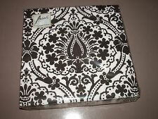 Ambiente Luxury Paper Products 20 Pack Dinner Napkins Jaipur Black White Design