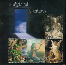 Liberia 2014 MNH Mythical Creatures 4v M/S Mermaid Leprechaun Vampire Stamps