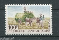 CENTRAFRICAINE 1965, timbre 46, CULTURE ATTELEE, neuf**, JOBS, VF MNH STAMP