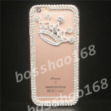 Bling Diamonds Crystal Pearls Thin Clear Soft TPU Back Shell Phone Cover Case Y4