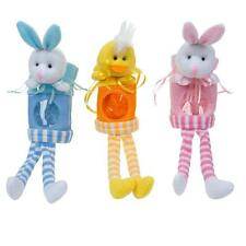 Easter Decorations Egg Hunt - Set of 3 Animal Gift Pouches with Legs