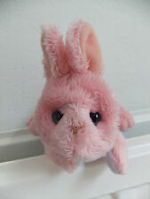 FUR REAL FRIENDS PINK BUNNY RABBIT SOFT CUDDLY TOY WHITE TAIL PET MAUVE EYES