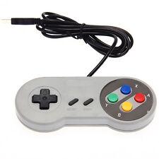 Contrôleur Manette Filaire USB Joypad Gamepad GRIS pour Jeux Console PC Laptop